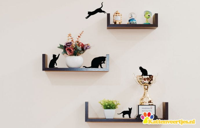 Katten silhouette stickers
