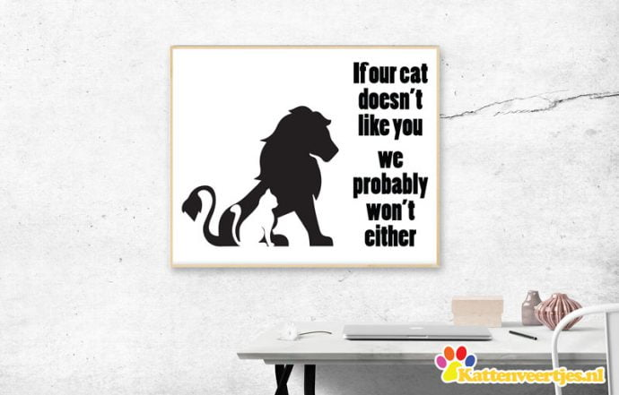 Kat / Leeuw sticker