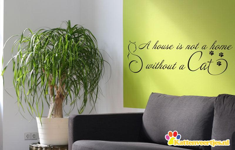 voorbeeld Muursticker a house is not a home