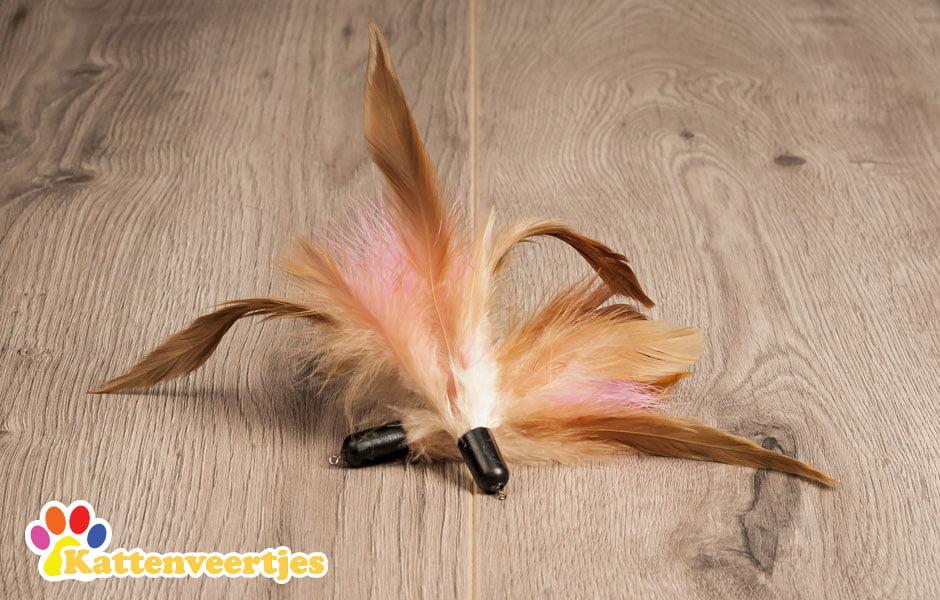 hummingbird verenkattenspeeltje voor aan een kattenhengel zoals crazy hunter of flexi hunter