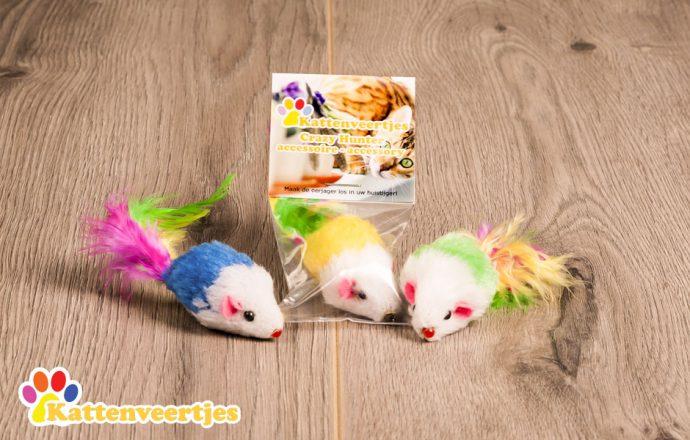Navulling muis handgemaakte duurzame kattenhengel crazy hunter