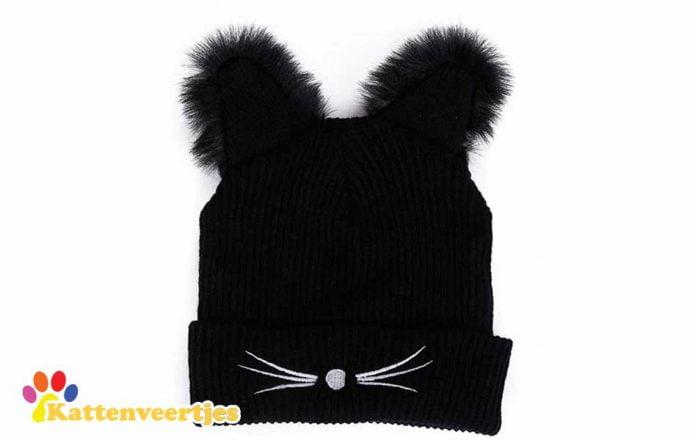 Zwarte kattenmuts
