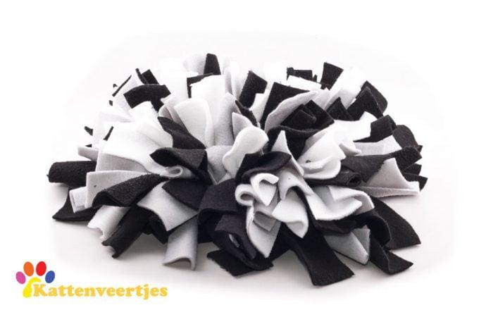 Verrijkings snuffelmat zwart wit grijs