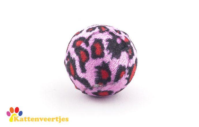 Roze kattenspeelgoed balletje met tijgerprint met geluid