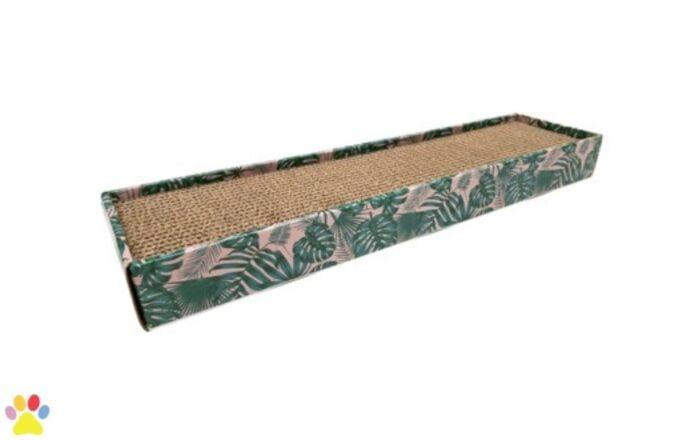 Croci Krabplank Homedecor Textuur Bladeren Groen 48 x 12,5 x 5 cm