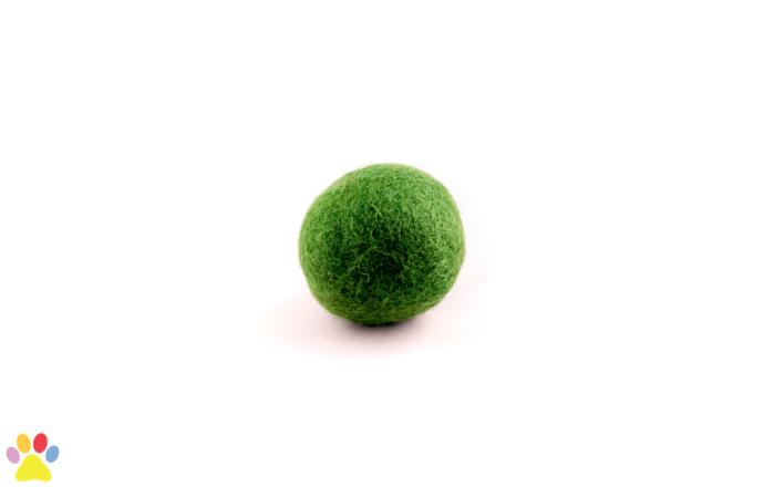 Gekleurde wolleballetje groen