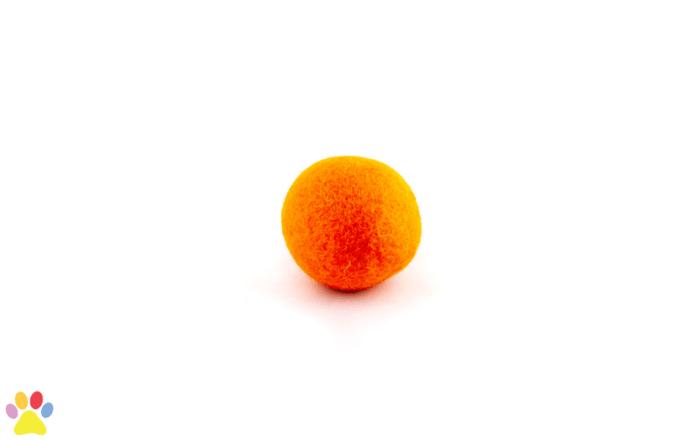 Gekleurde wolleballetje Oranje