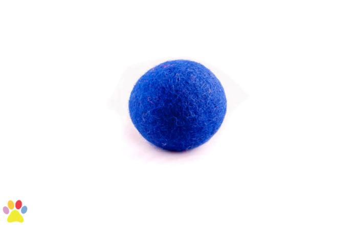 Gekleurde wolleballetje Blauw