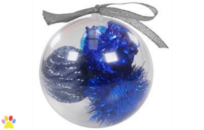 Cupid & Comet Kerstbal Met 4 Speeltjes Assorti