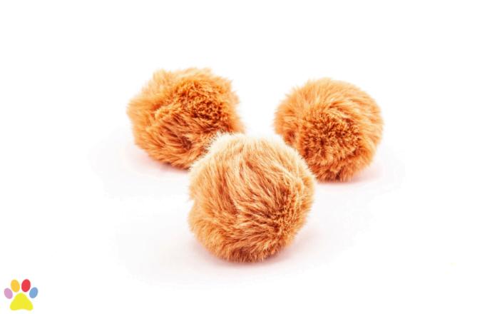 fluffy ballen 3 stuks kattenspeelgoed