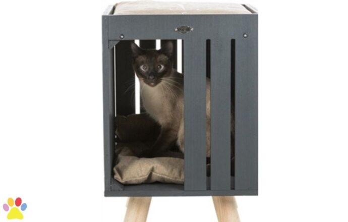 Trixie Be Nordic Kattenhuis Alva Antraciet/Zand 36x36x51CM