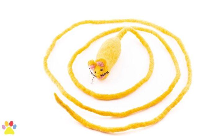Wollen muis lange staart geel