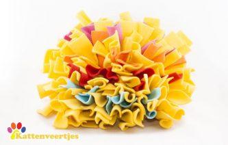 Snuffelmat geel blauw rood roze oranje