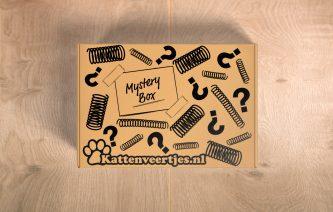 Mysterybox op ondergrond van hout