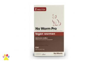 Kitten No Worm Pro 2 tabl. voor ontworming