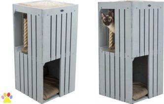 TRIXIE BE NORDIC CAT TOWER JUNA GRIJS 38X38X77 CM