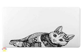 Katten Placemat Zentangle
